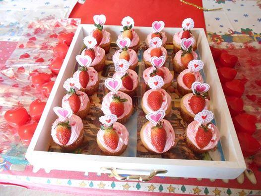cupcakes 14 de febrero de fresas