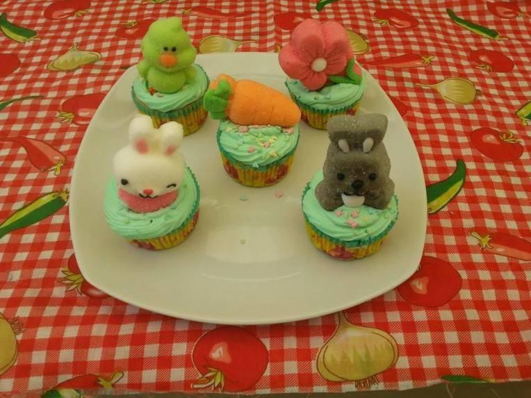 cupcakes de chabacano de pascua