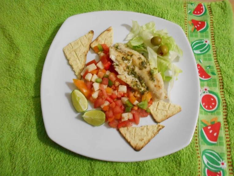 filete de pescado con cilantro