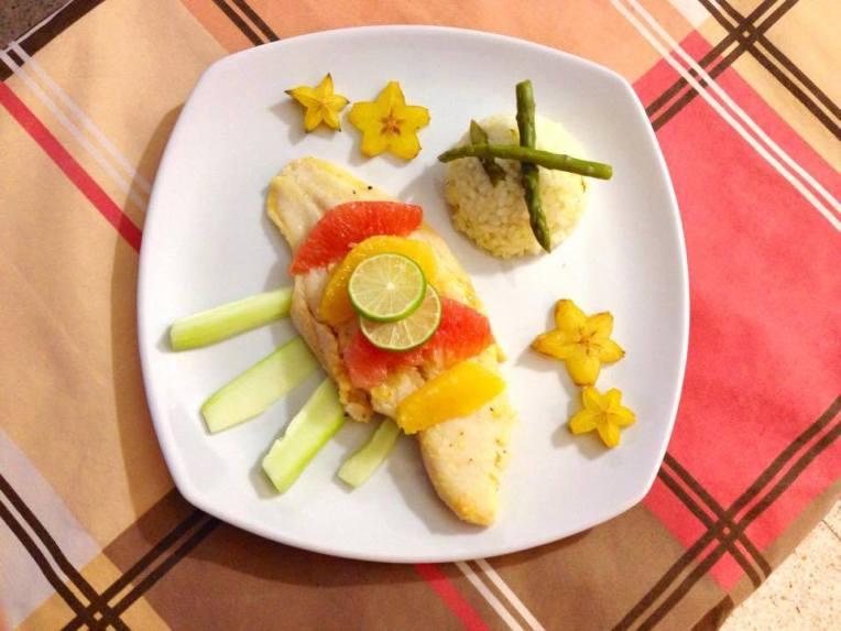 filete de pescado con citricos