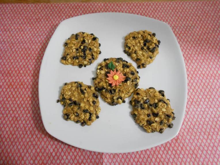 galletas integrales de avena y platano