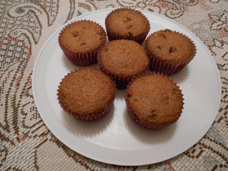 muffins de miaz y miel sin gluten