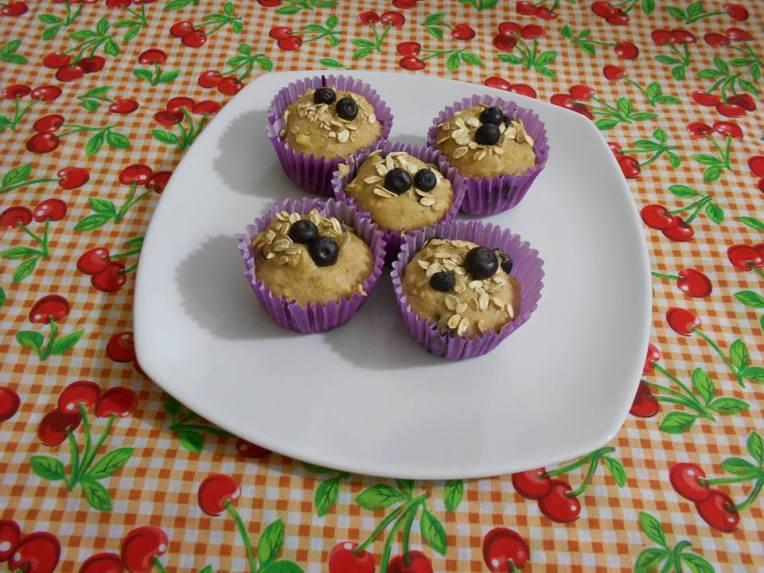 muffins de avena y arandanos sin gluten