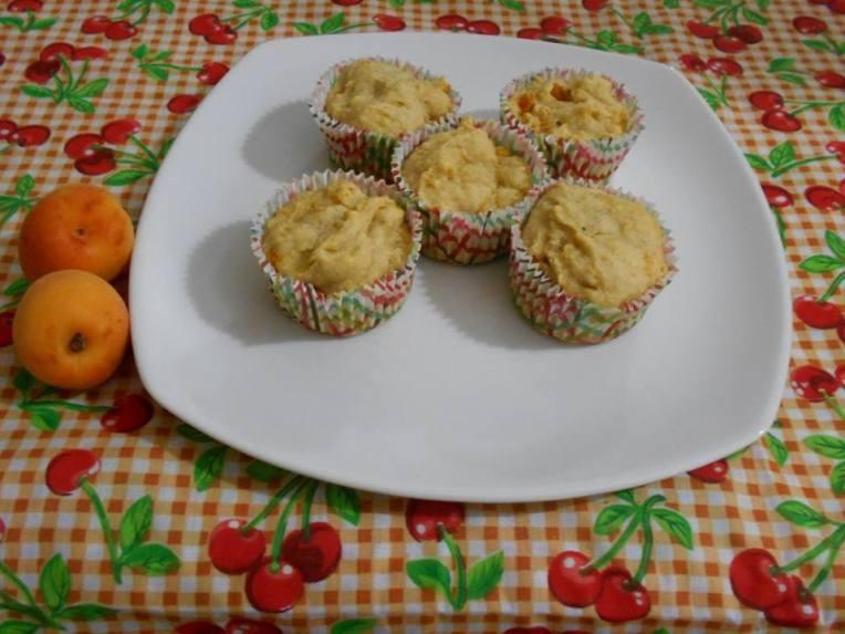 muffins de miel y chabacano sin gluten