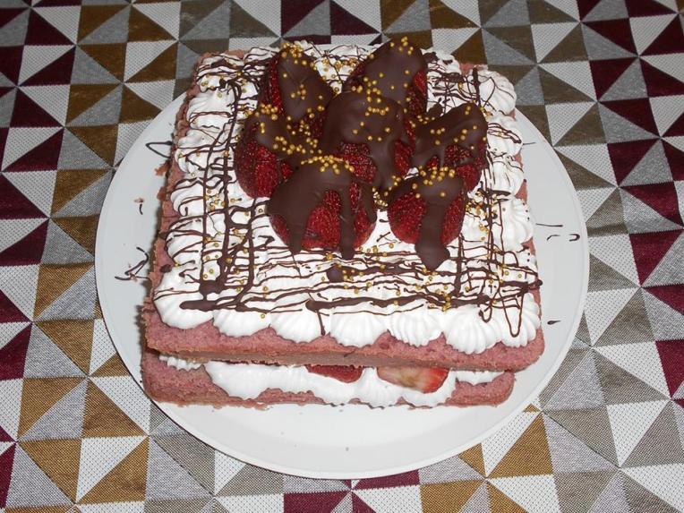 pastel fresa 1