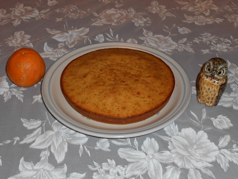 bizcocho naranja y almendra foto