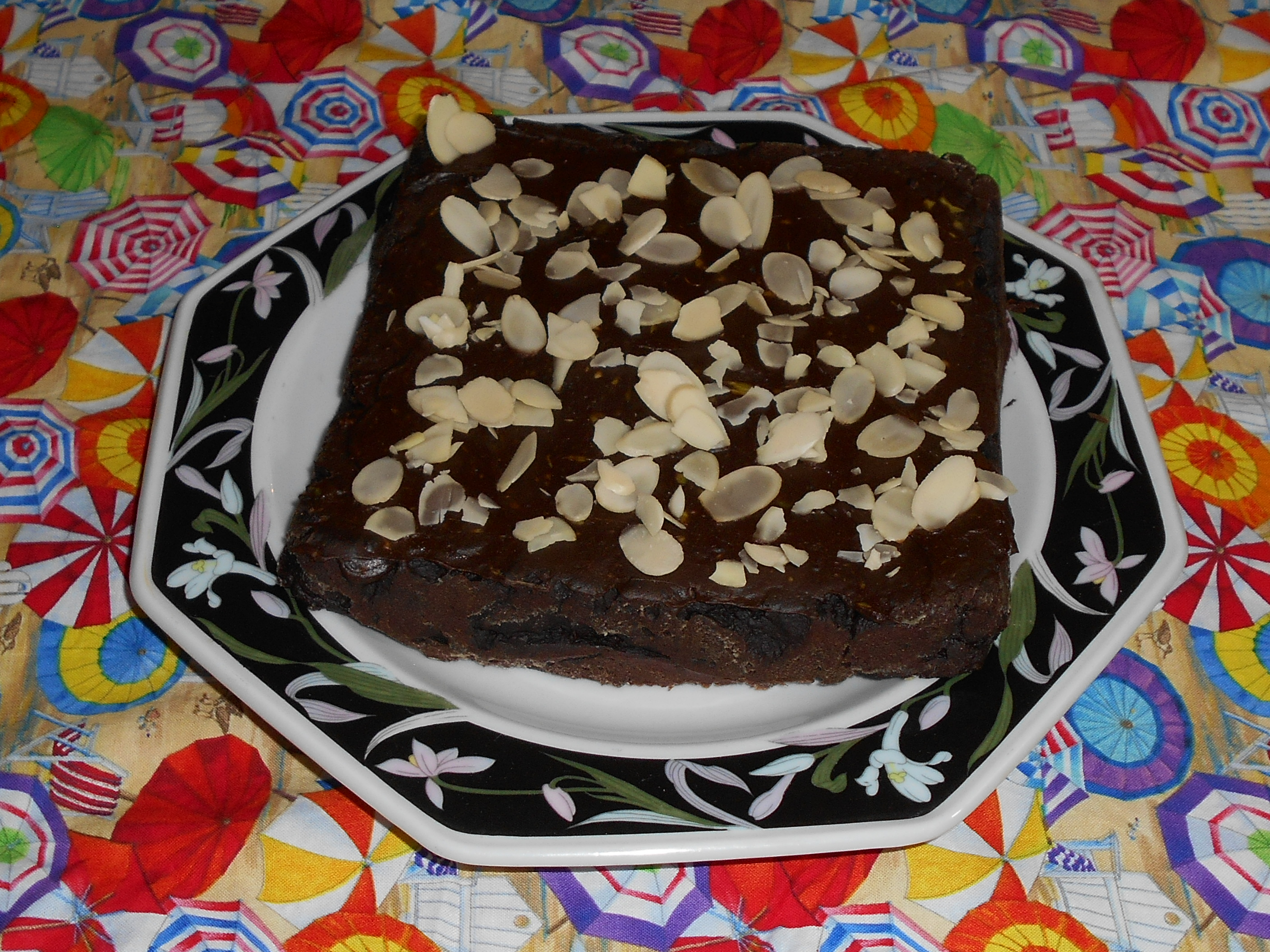 foto de fudgy avocado brownies