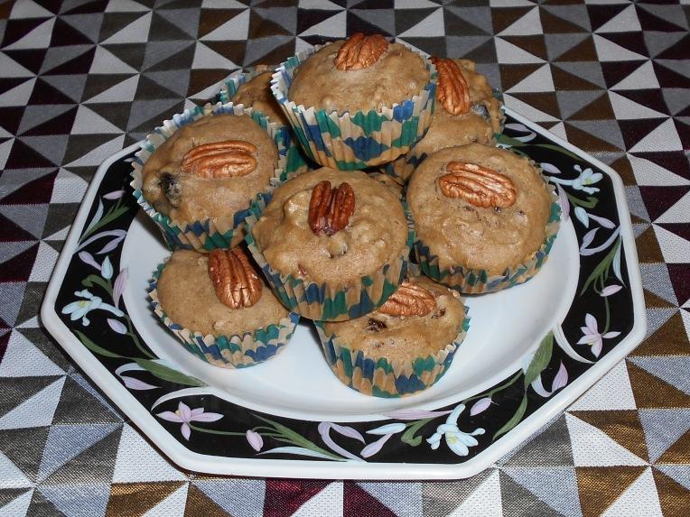 muffins de ciruela pasa y nuez