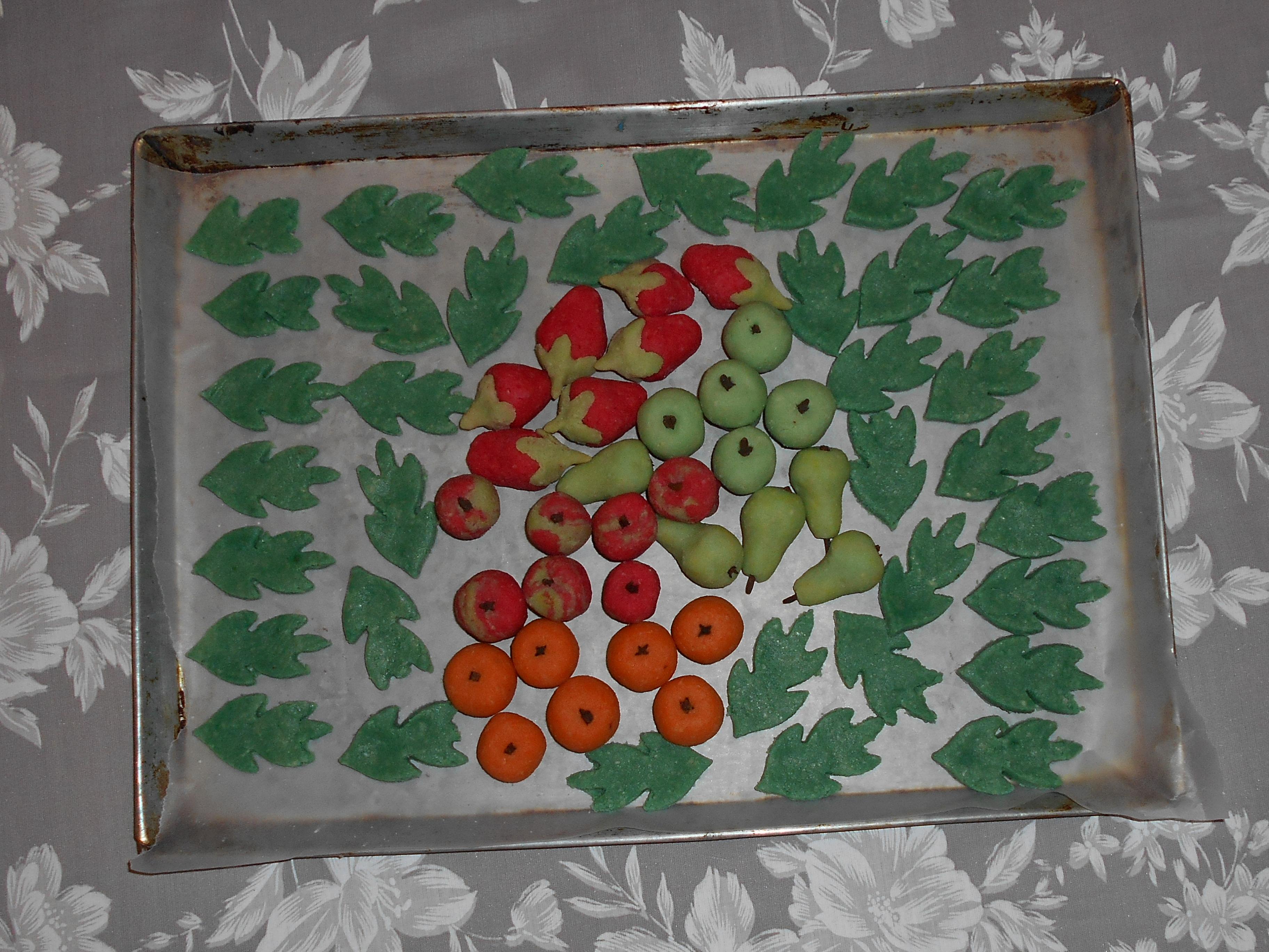 frutas de almendras