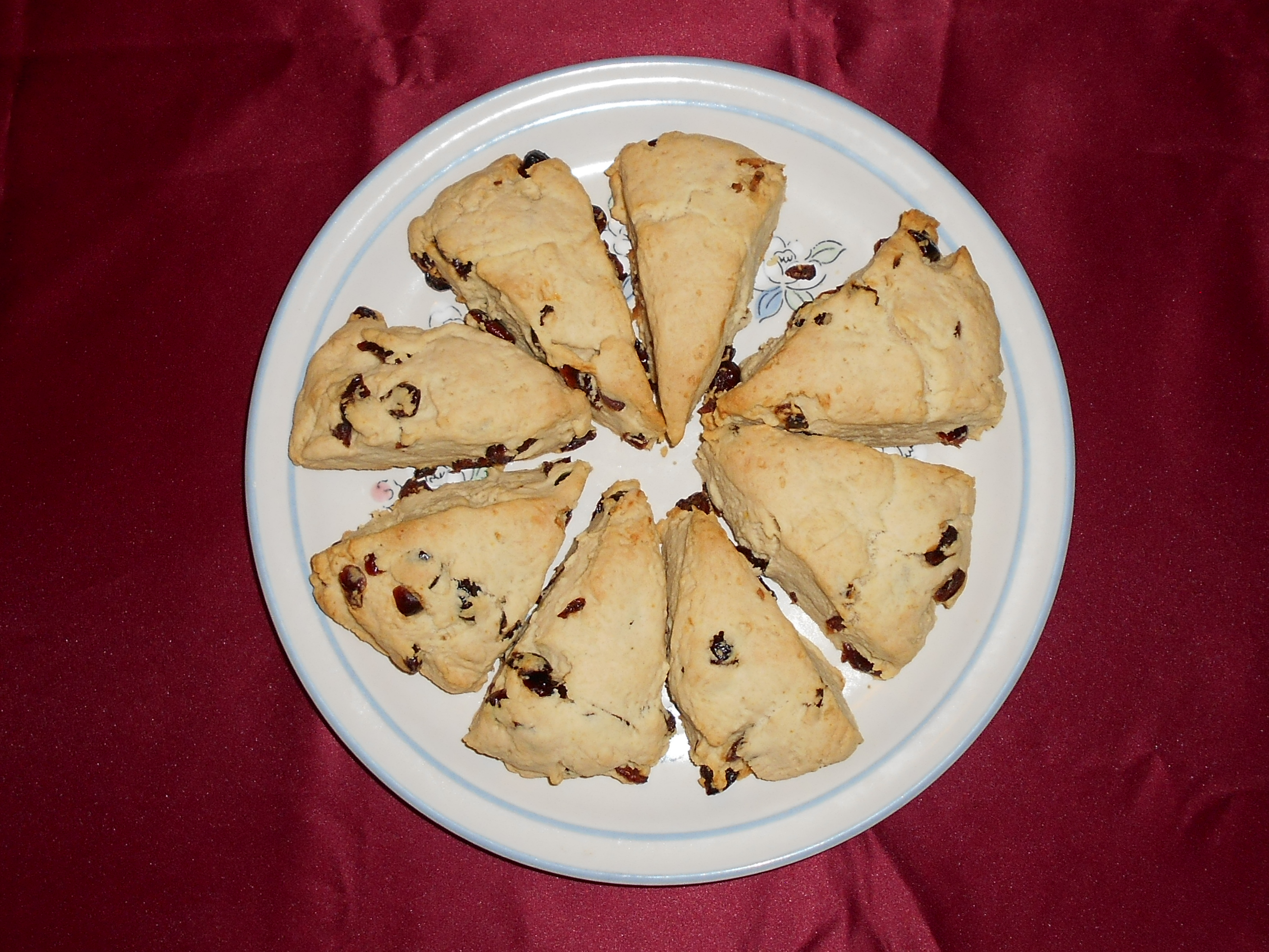 orange cranberry cream scones foto