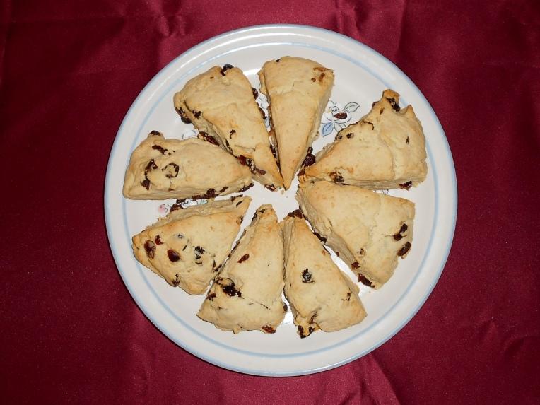 orange cranberry cream scones foto