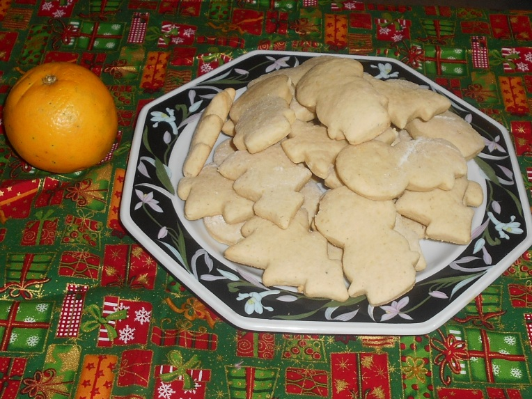 foto galletas de naranja
