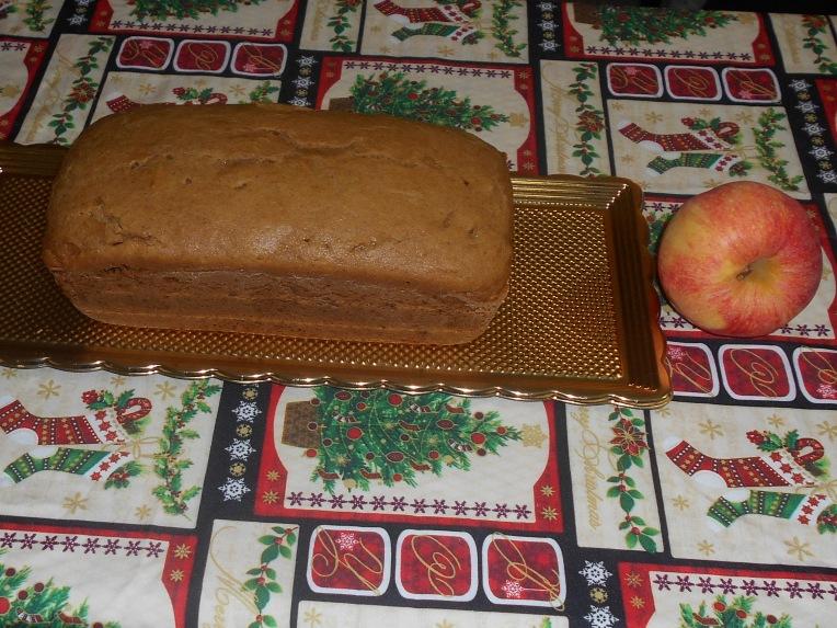bizcocho de pure de manzana foto