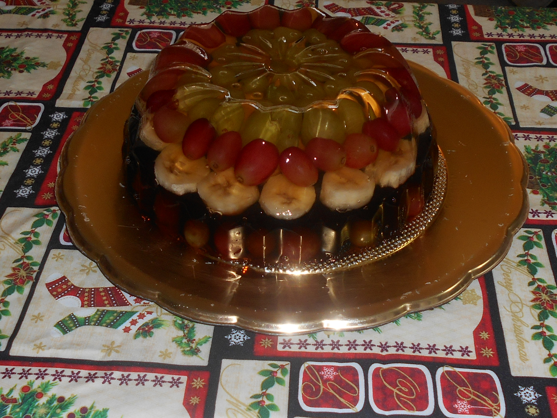 gelatina con fruta encapsulada