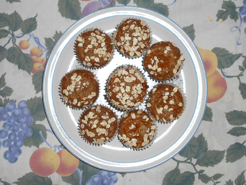 skinny brown sugar oatmeal muffins foto